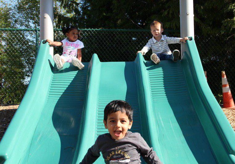 3 kids slides